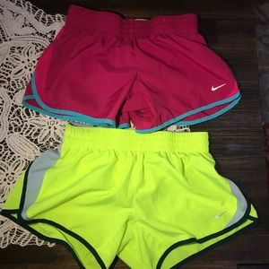 Bundle two nike running shorts size Large girls